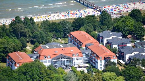 Seehotel Großherzog von Mecklenburg aus der Vogelpersperspektive