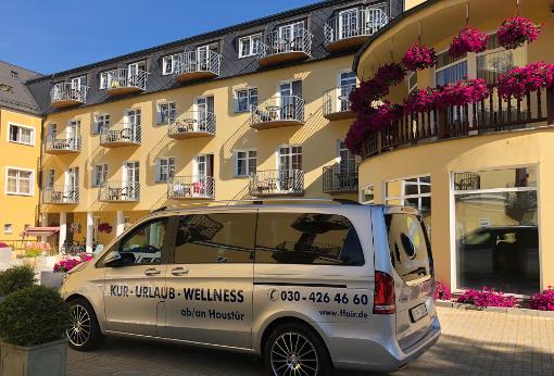 Das Franzensbader Hotel Bajkal mit Kleinbus-Abholung von zu Hause