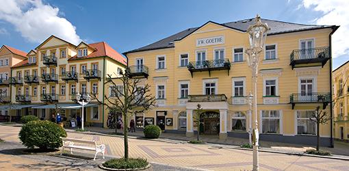 Kurhotel Goethe in der Franzensbader Kurproenade