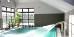 Schwimmbad mit Druckstrahldüse
