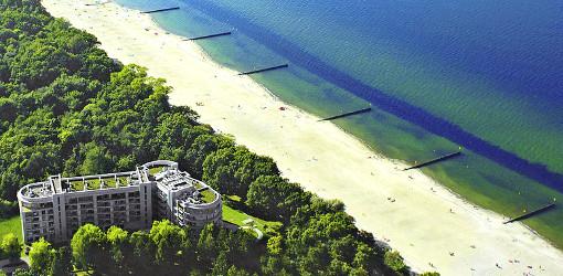 Hotel-Resort Diune nahe der Ostsee – aus der Vogelperspektive