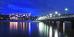Nachtansicht, abendliches Hotel Bałtyk und beleuchtete Seebrücke