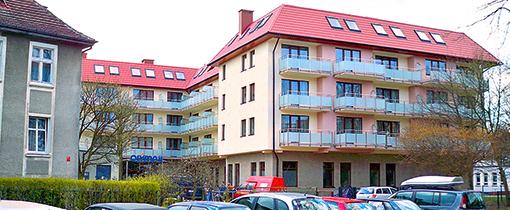 Haus Olymp II vom ersten Olymp-Haus (heute Appartementhaus Olymp SPA) aus gesehen