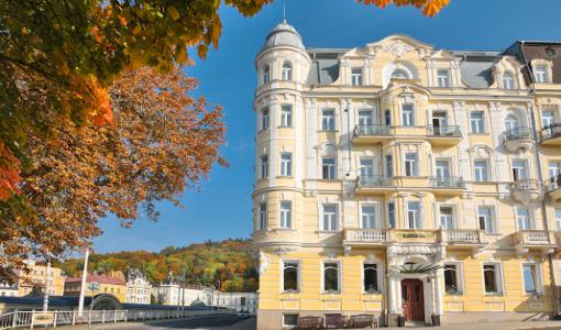 Hotel Belvedere oberhalb der Marienbader Kolonnade