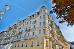 Hotel Belvedere mit Eckansicht aus der Froschperspektive