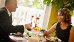 Kurgastpaar im Restaurant des Kurhotels Royal
