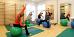 Gruppengymnastik auf Gymnastikbällen