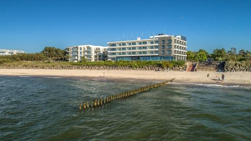 Hotel Baltivia von der Ostsee aus gesehen