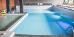 Schwimmbecken, links Plansch-Bereich