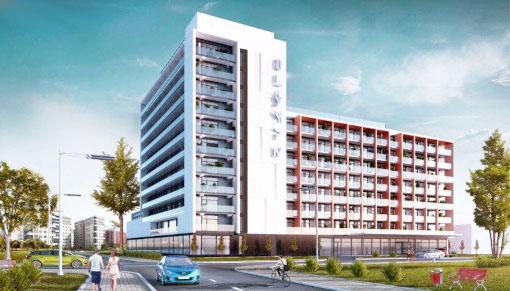 Das Kolberger Hotel Olymp 4 in der Gesamtansicht