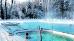 Außenpool im Winter mit Thermalwasser