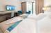 Blick in ein Doppelzimmer des Hotels Ewerdin